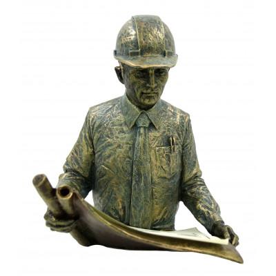 """Скульптура """"Инженер-строитель"""""""