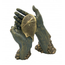 """Скульптура - часы """"Время в твоих руках"""""""
