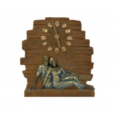 """Скульптура - часы """"Влюбленная пара"""""""