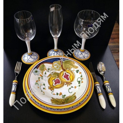 "Набор посуды ""CeramicArte"" гранат"