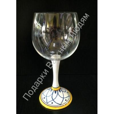 """Бокал для белого вина """"CeramicArte"""" гранат"""