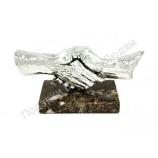 """Скульптура """"Сотрудничество"""" серебро"""