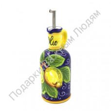 """Бутылка для масла """"CeramicArte"""" лимон"""