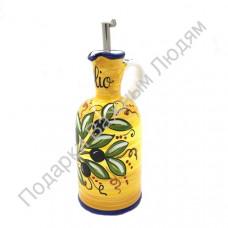 """Бутылка для масла """"CeramicArte"""" оливки"""