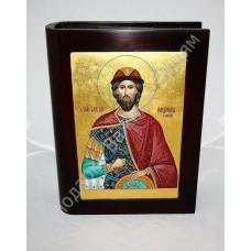 Библия в коробе с рукописной Иконой