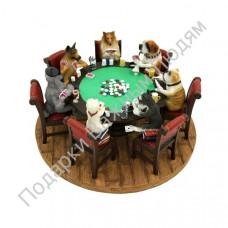 """Скульптура """"Собаки играют в покер"""""""