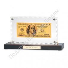 """Банкнота """"100 USD"""" в акриле"""
