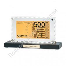 """Банкнота """"500 Euro"""" в акриле"""