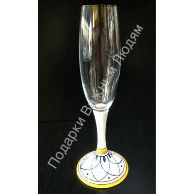 """Бокал для шампанского """"CeramicArte"""" гранат"""