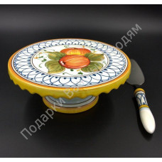 """Тортовница с лопаткой """"CeramicArte"""""""